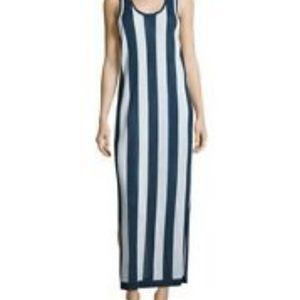 Diane Von Furstenberg striped bathing suit coverup